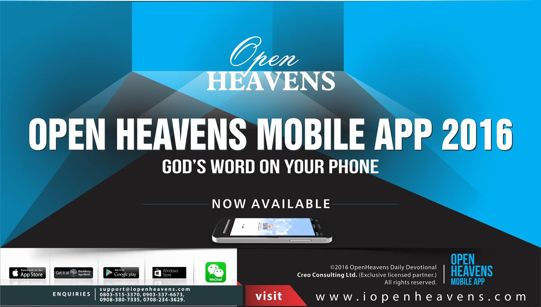 Open Heavens Promo